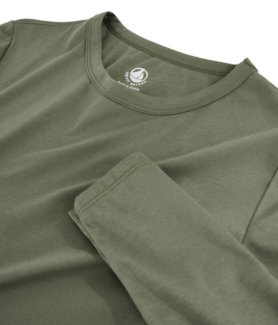 T-shirt in cotone Sea Island donna verde Litop