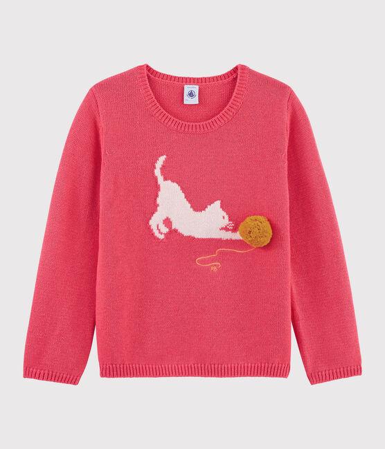 Pullover in lana e cotone bambina ROSE FLASHY