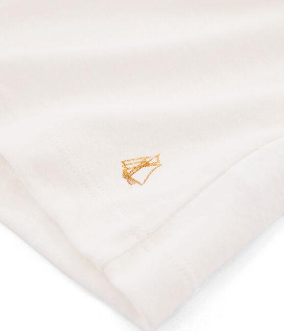 T-shirt a maniche corte bambina bianco Marshmallow