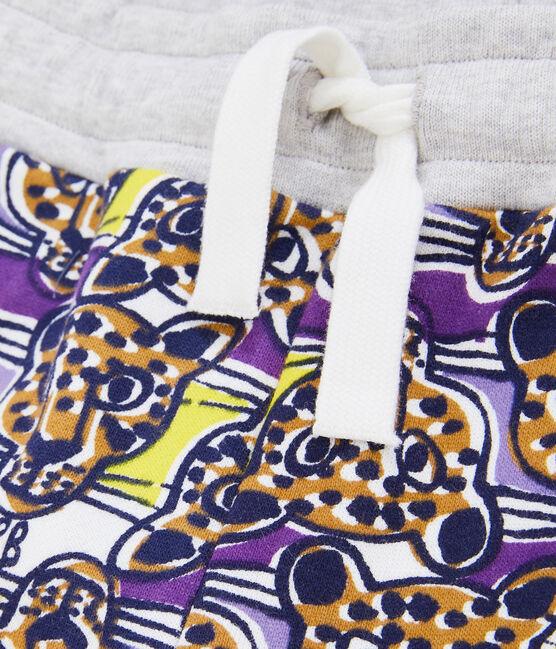 Pantalone in maglia da bambino bianco Marshmallow / bianco Multico