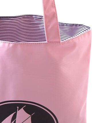 Borsa shopping per donna in tinta unita in materiale idrorepellente