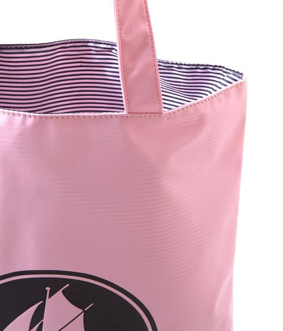 Borsa shopping per donna in tinta unita in materiale idrorepellente rosa Babylone