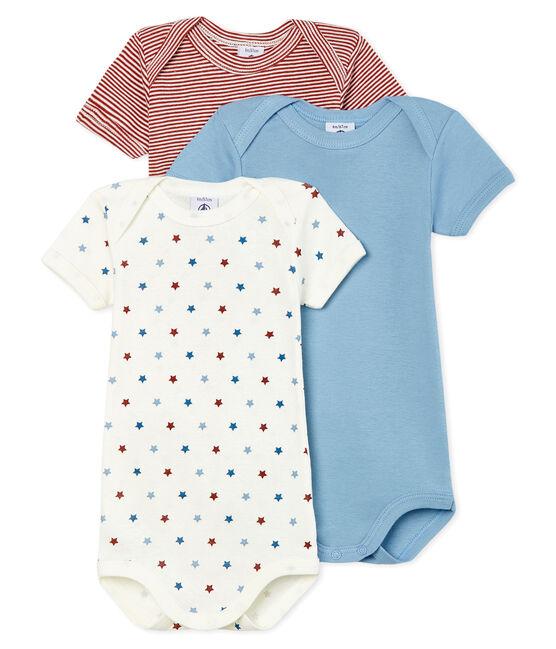 Trio body manica corta bebè maschietto lotto .