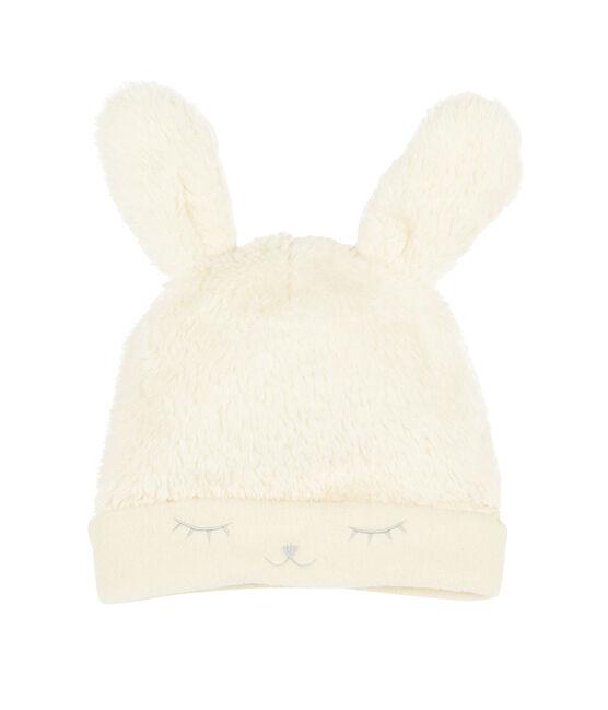 Cappellino bebè femmina foderato in pile bianco Marshmallow