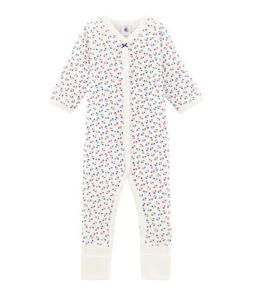 Tutina con piedini reversibili per bebé femmina bianco Marshmallow / bianco Multico