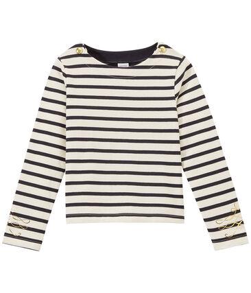 Marinière bambina maniche lunghe in jersey pesante