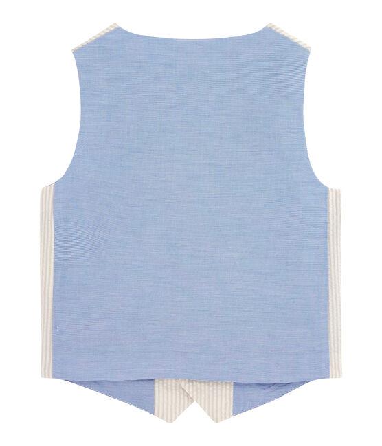 Gilet senza maniche bambino beige Beige / bianco Marshmallow