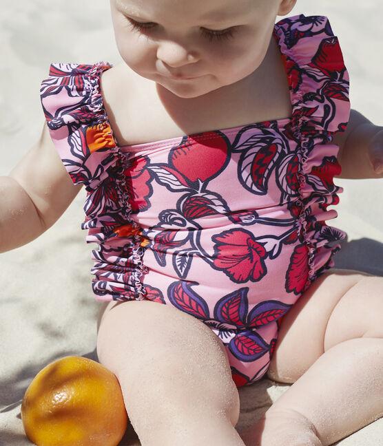 Costume da bagno UPF 50+ bebè femmina rosa Merveille / bianco Multico