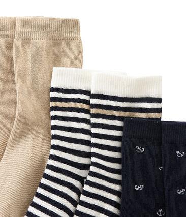 Lotto di 3 paia di calze bambino