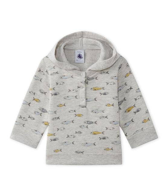 Felpa con cappuccio bebé bambino grigio Beluga / bianco Multico