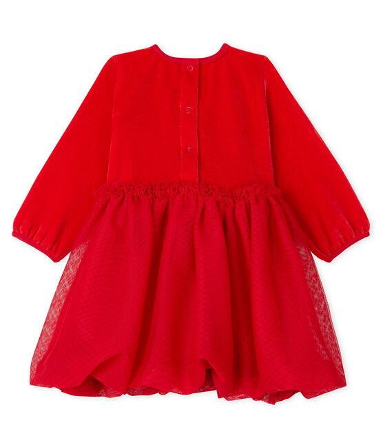 Abito bebè femmina rosso Terkuit