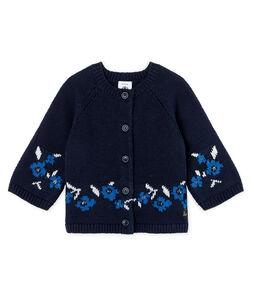 Cardigan bambina in maglia di lana e cotone