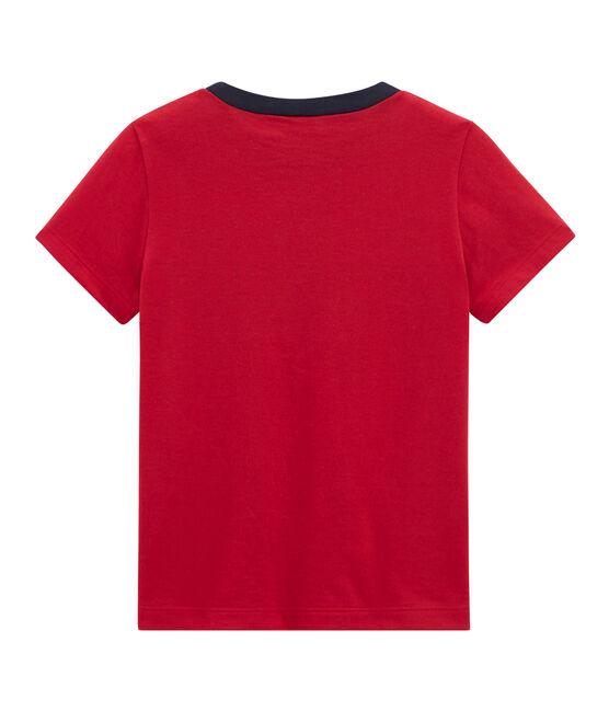 T-shirt bambino maniche corte rosso Terkuit