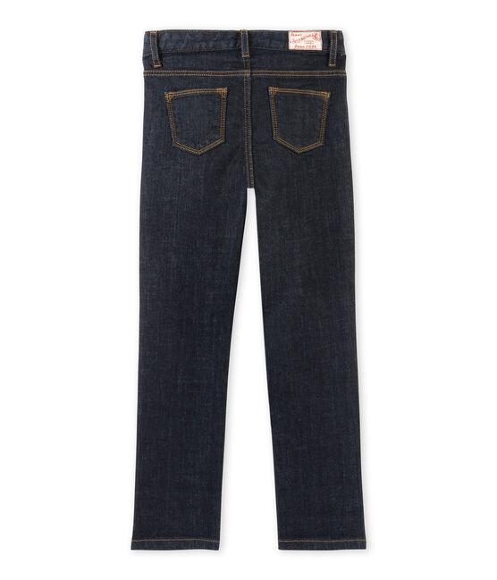 Pantaloni bambina in jersey brut blu Jean