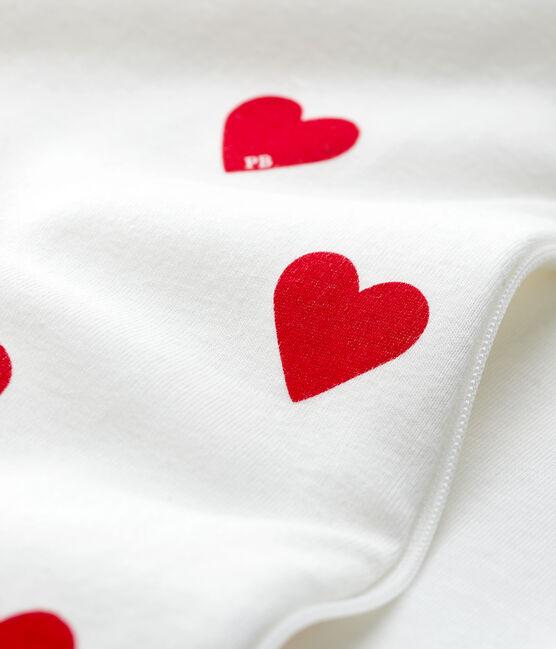 Sacco nanna cuore rosso bebè in cotone bianco Marshmallow / rosso Terkuit