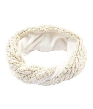 Ampia fascia paraorecchie bambina bianco Marshmallow / giallo Or