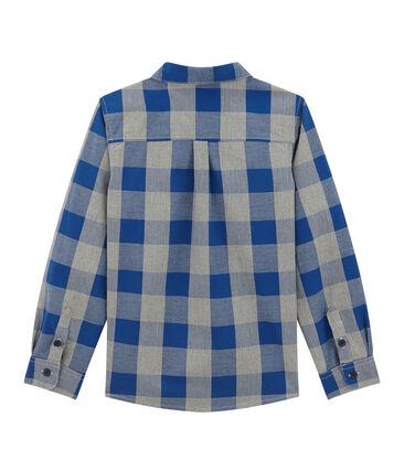 Camicia a quadri in popeline per bambino