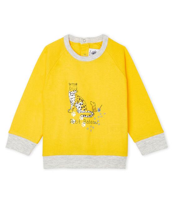Felpa leggera bebè maschio giallo Shine