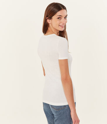 T-shirt maniche corte tinta unita donna bianco Ecume