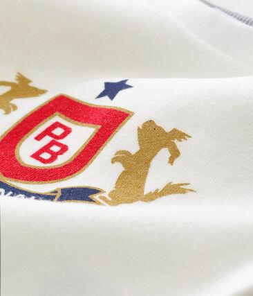 tee-shirtper bebé maschio bianco Marshmallow / rosso Terkuit