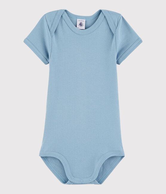 Body a manica corta bebè unisex blu Acier