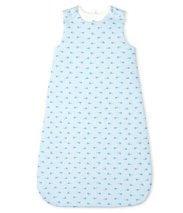 Sacco nanna bebè a costine blu Fraicheur / bianco Multico