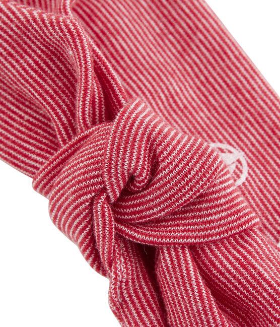 Fascia bambina bianco Marshmallow / rosso Terkuit