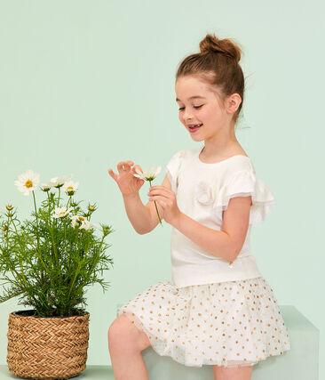 Gonna bambina bianco Marshmallow / giallo Or