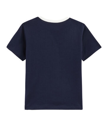 T-shirt bambino blu Smoking