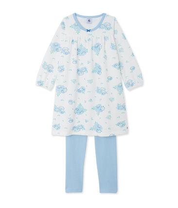 Camicia da notte in velluto stampato, con leggings abbinati