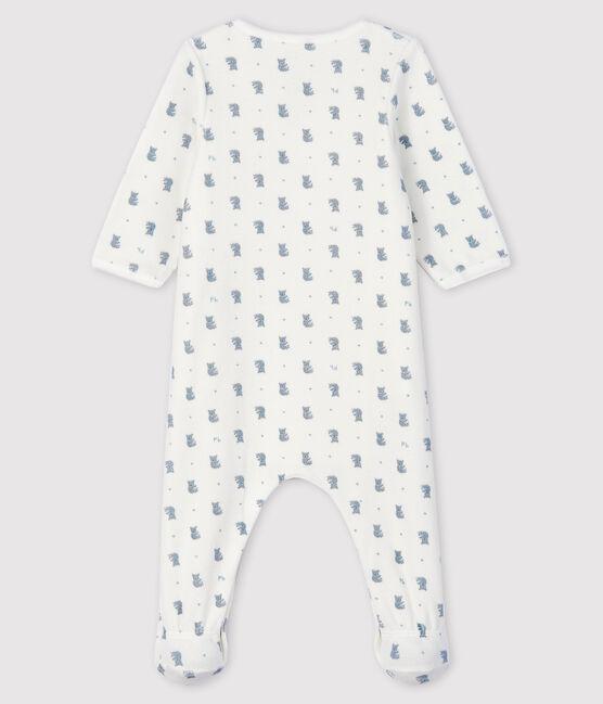 Body-pigiama con stampa koala bimbo in velluto bianco Marshmallow / bianco Multico