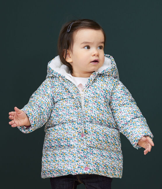 Piumino trapuntato bebè femmina bianco Marshmallow / bianco Multico