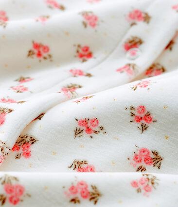 Bodyjama bebè femmina in ciniglia bianco Marshmallow / bianco Multico