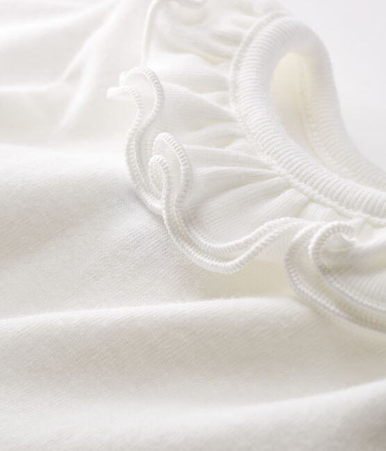 Body manica lunga bebè femmina con collettino bianco Marshmallow