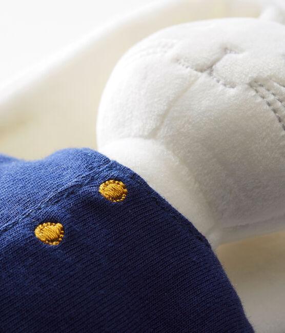 Doudou coniglietto stile marinaro bianco Marshmallow / blu Smoking