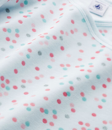 Camicia da notte per bambina in ciniglia rosa Vienne / blu Bocal