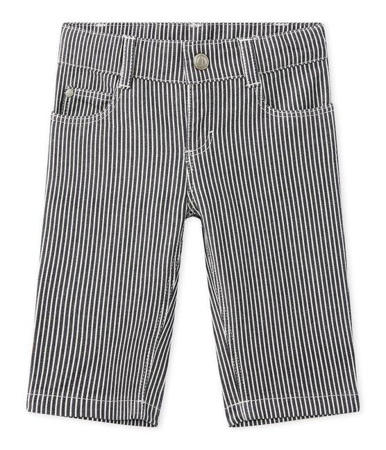 Pantaloni per bebè maschio a righe blu Smoking / bianco Marshmallow