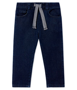Pantaloni in maglia effetto denim per neonati