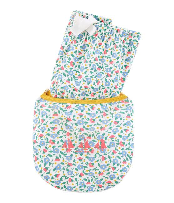 Pigiama corto bambina a costine bianco Marshmallow / bianco Multico