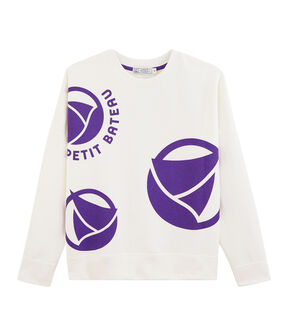 Felpa con logo donna bianco Marshmallow / viola Real