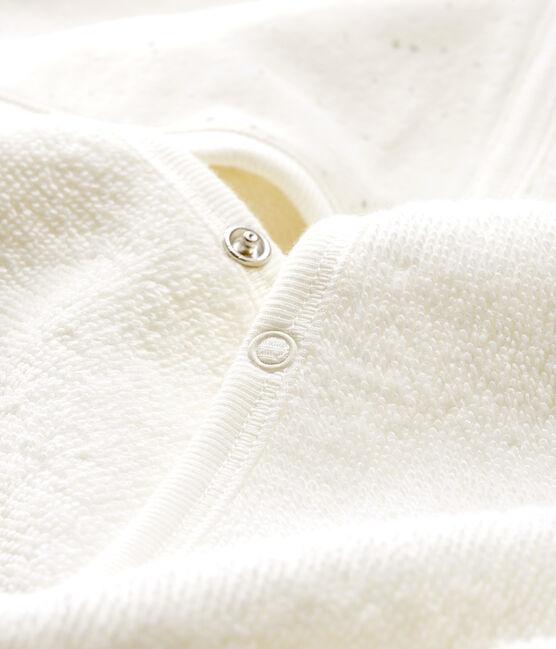 Mantellina da bagno bebè in spugna bianco Marshmallow