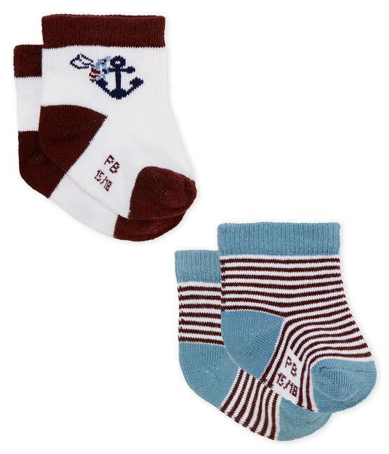 Confezione da 2 paia di calzini neonato lotto .