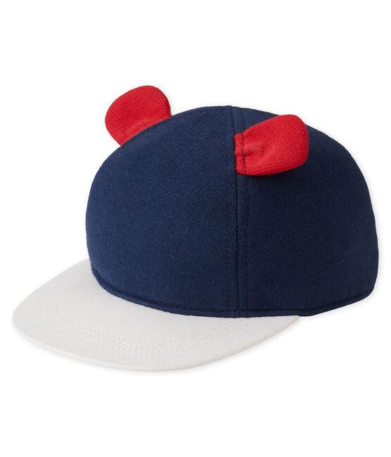 Cappellino da in molleton blu Smoking / bianco Multico