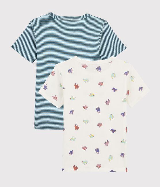 Confezione da 2 t-shirt manica corta fantasia scimmia da bambino lotto .