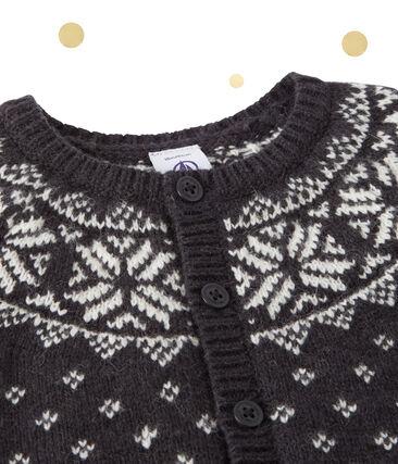 Cardigan jacquard per bebé in misto lana