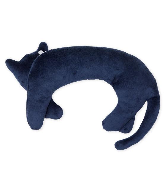 Cuscino pantera in ciniglia blu Medieval