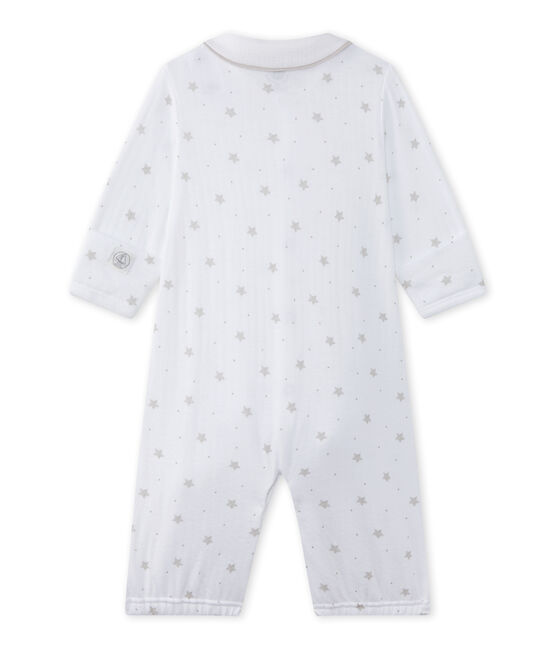 Combisac bebé unisex 2 in 1 bianco Ecume / marrone Shitake