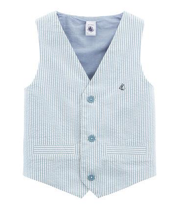 Gilet senza maniche bambino blu Fontaine / bianco Marshmallow