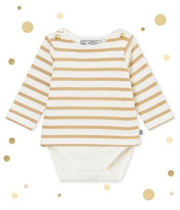 Body marinière luccicante per bebé femmina