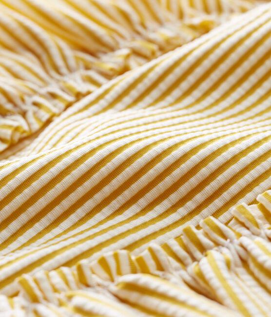Costume intero neonata rigato giallo Bamboo / bianco Marshmallow